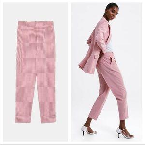 Zara Pink Gingham Pants